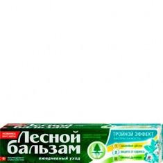 Зубная паста Тройной Эффект Мята и Смородина на отваре трав ЛЕСНОЙ БАЛЬЗАМ