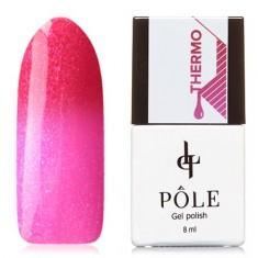 POLE, Гель-лак  №01, малиновый и розовый