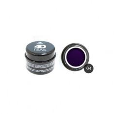 TNL, 4D-гель для дизайна ногтей №4, темно-синий TNL Professional