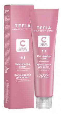 TEFIA 5.1 краска для волос, светлый брюнет пепельный / Color Creats 60 мл
