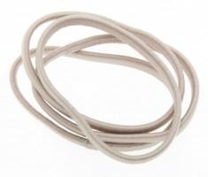 DEWAL BEAUTY Резинки для волос midi плоские, бежевые 8 шт