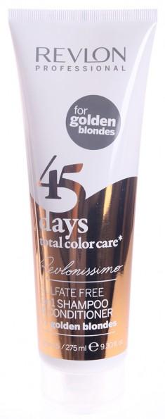 REVLON PROFESSIONAL Шампунь-кондиционер тонирующий для золотистых блондированных оттенков / REVLONISSIMO COLOR CARE 275 мл