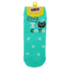 Носки женские SOCKS I cats mint р-р единый