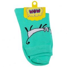 Носки женские SOCKS Kitty mint р-р единый