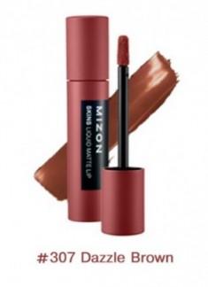 Помада матовая жидкая MIZON Skins Liquid Matte Lip №307 Dazzle Brown