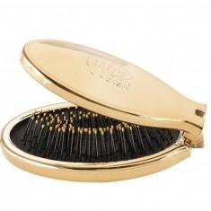 Wet Brush Щетка-мини для спутанных волос раскладная, золото / WET BRUSH MINI POP FOLD GOLD