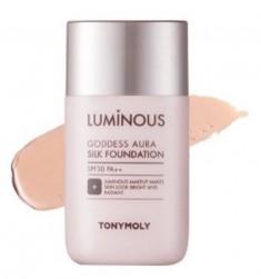 Тональная основа TONY MOLY Luminous goddess aura silk foundation 02 Warm Beige 45 мл