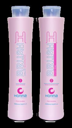 HONMA TOKYO Набор для восстановления и разглаживания волос с розовым пигментом (шампунь 1000 мл, маска реконструктор 1000 мл) H-Brush Botox Capilar Pink