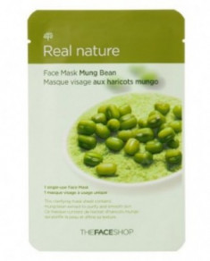 Маска с экстрактом бобов маш THE FACE SHOP Real nature mask sheet mung bean 20 г.
