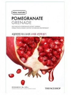 Маска с экстратом граната THE FACE SHOP Real Nature Mask Sheet Pomegranate
