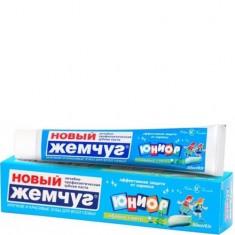 Зубная паста Юниор Яблоко и мята в футляре НОВЫЙ ЖЕМЧУГ