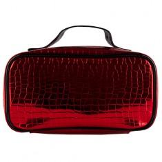 Косметичка-чемоданчик LADY PINK METAL красная