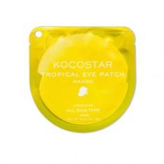 Kocostar, Гидрогелевые патчи для глаз Tropical, манго, 1 пара