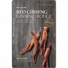 Маска для лица Real Nature Red Ginseng THE FACE SHOP