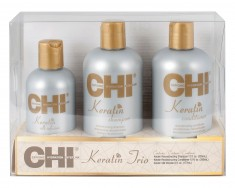 CHI Набор подарочный для ухода за поврежденными волосами / CHI KERATIN TRIO