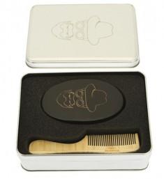 DEWAL PROFESSIONAL Набор расчесок для бороды и усов, в алюминиевом кейсе