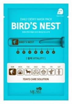Маска тканевая c экстрактом ласточкиного гнезда Mijin CARE DAILY DEW MASK PACK BIRD'S NEST 25гр