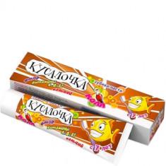 Кусалочка зубная паста для детей с 7 лет кола с фтором кальцием и витаминами A D E REAL CAPS