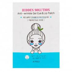 патчи от морщин вокруг глаз и губ a'pieu hidden solution anti-wrinkle gel eye & lip patch