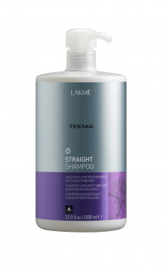 LAKME Шампунь для гладкости волос с нарушенной структурой или химически выпрямленных волос / STRAIGHT SHAMPOO 1000 мл