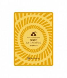 Маска для лица тканевая с золотом лифтинг эффект Mijin Skin Planet GOLD LIFTING MASK 25гр