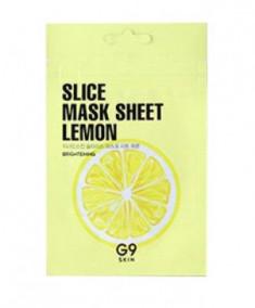 Маска-слайс для лица тканевая осветляющая Berrisom G9 Slice Mask Sheet - Lemon 10мл