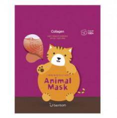 Маска тканевая с морским коллагеном Berrisom Animal mask series Cat 25мл