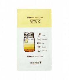 Маска тканевая Витамин С SKINFOOD Boosting Juice 2-step Mask Sheet VITA C 23мл/2,5мл
