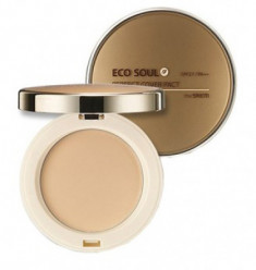 Пудра компактная THE SAEM Eco Soul Perfect Cover Pact 21 Light Beige 11г