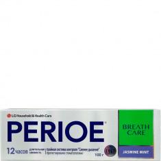 Зубная паста с тройной системой контроля свежего дыхания Breath Care Жасмин и мята Perioe