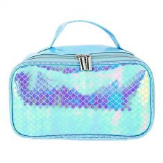 Косметичка-кейс LADY PINK MERMAID перламутровая голубая