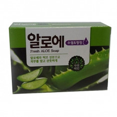 мыло с экстрактом алоэ  mukunghwa fresh aloe soap