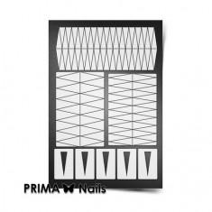 Prima Nails, Трафареты «Клинки», белые