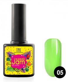TNL PROFESSIONAL 05 гель-лак для ногтей, неоновый салатовый / Summer Jam 10 мл