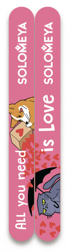 SOLOMEYA Набор пилок для натуральных и искусственных ногтей 180/220 / All you need is love 2 шт
