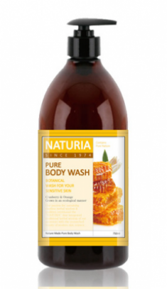 Гель для душа МЕД и ЛИЛИЯ EVAS NATURIA PURE BODY WASH Honey & White Lily 750 мл