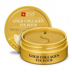 патчи для глаз snp gold collagen eye patch