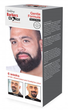 GODEFROY Краска в капсулах для бороды, натурально-черный / Barbers Choice Natural Black 145 г