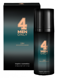 INSPIRA COSMETICS Крем укрепляющий легкий 24-часового действия для лица / 4 Men Only 50 мл