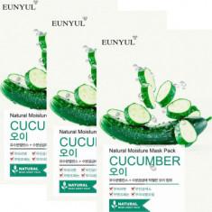 Тканевая маска с огурцом EUNYUL Natural moisture mask pack cucumber 22мл*3шт
