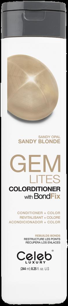 CELEB LUXURY Кондиционер тонирующий корректирующий цвет, песочный опал / Gem Lites Sandy Opal Colorditioner 244 мл