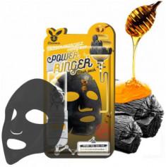 Набор масок тканевых с древесным углем и медом Elizavecca Black Charcoal Honey Deep Power Ringer Mask Pack 10 шт