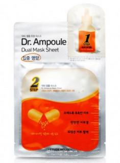 Маска двухфазная восстанавливающая ETUDE HOUSE Dr. Ampoule Dual Mask Sheet Vital Care