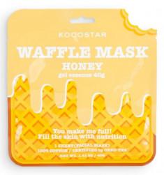 Маска вафельная питательная с экстрактом мёда Kocostar Waffle Mask Honey 40 г