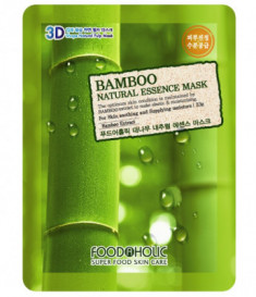 Тканевая 3D маска с бамбуком FoodaHolic Bamboo Natural Essence Mask 23мл
