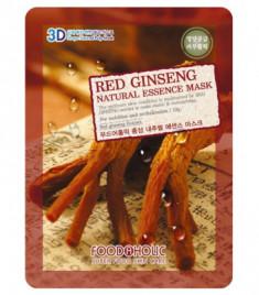 Тканевая 3D маска с экстрактом красного женьшеня FoodaHolic Red Ginseng Natural Essence Mask 23мл