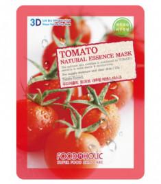 Тканевая 3D маска с томатом для увлажнения и улучшения цвета лица FoodaHolic Tomato Natural Essence Mask 23 мл