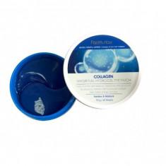 гидрогелевые патчи для области вокруг глаз с коллагеном farmstay collagen water full hydrogel eye patch