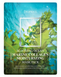 Набор тканевых масок DEOPROCE BLOOMING MARINE COLLAGEN MOISTURIZING MASK PACK 25г*5