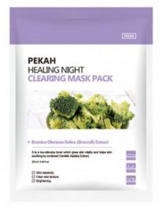Тканевая маска с экстрактом брокколи PEKAH Healing Night Cleansing Mask Pack 25мл*5шт